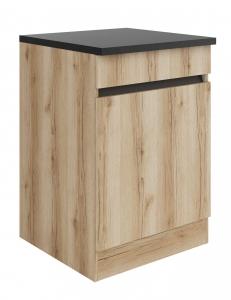 Küchen Unterschrank mit Arbeitsplatte Kaya U606-0+ in Wildeiche Nachbildung 60 cm breit