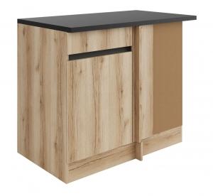 Küchen Eckunterschrank mit Arbeitsplatte Kaya UEL106-0+ in Wildeiche Nachbildung 100 cm breit