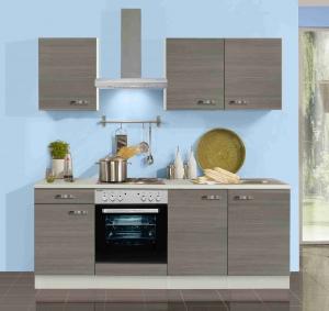 Küchenblock Vigo 210 cm in Pinie Nachbildung mit Spüle ohne Elektrogeräte